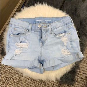 Old Navy Boyfriend blue jean shorts